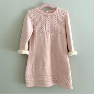 Janie & Jack pink cable knit sweater dress 18-24